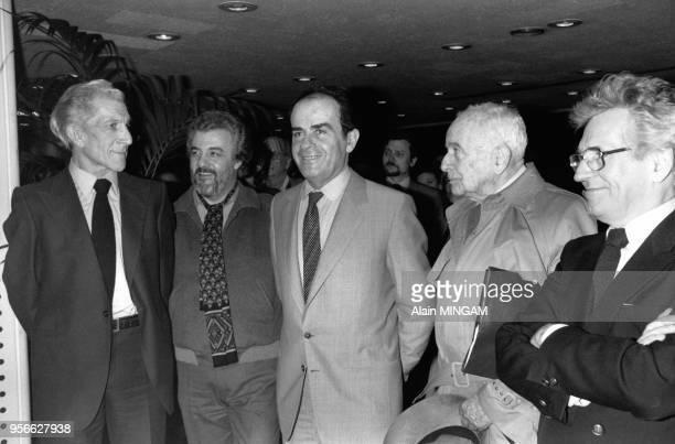 Jean Burles lavocat JeanMichel Catala membre de la direction du journal Georges Marchais Louis Aragon et Roland Leroy député et directeur de...