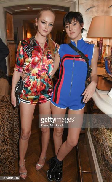 Jean Campbell and Eliza Cummings attend the LOVE x Miu Miu Women's Tales dinner hosted by Katie Grand and Elle Fanning at Loulou's on February 19...