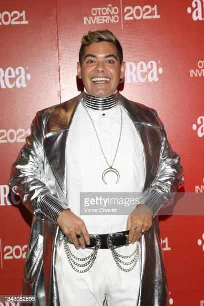 """Jean Carlos """"El Príncipe de los Sueños"""" attends the presentation of the Fall/Winter collection by Andrea at TV Azteca Ajusco on September 26, 2021 in..."""