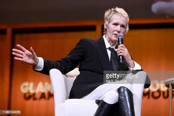 E Jean Carroll speaks onstage during the How to Write Your Own Life panel at the 2019 Glamour Women Of The Year Summit at Alice Tully Hall on...