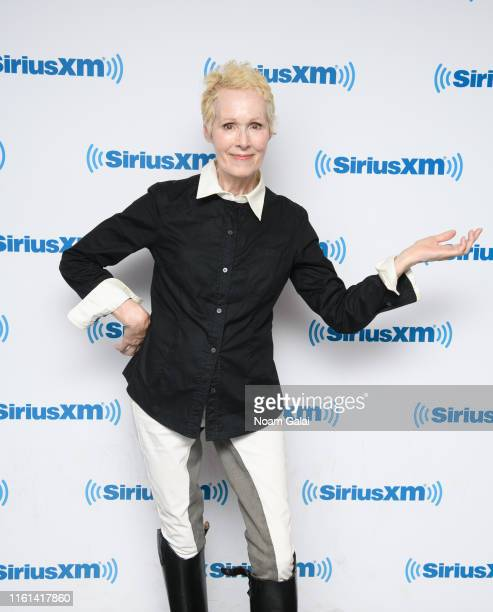 E Jean Carroll visits the SiriusXM Studios on July 11 2019 in New York City