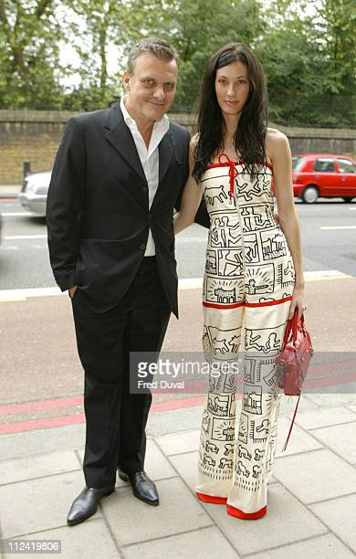 Jean Charles de Castelbajac and guest during Marchpole Drinks Party at Il Bottacchio in London Great Britain