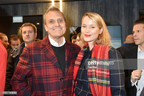 Jean Charles de Castelbajac and Pauline de Drouas attend Rossignol Paris Flagship Opening at 21 Bd Capucines on October 22 2018 in Paris France