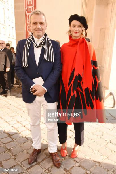 Jean Charles de Castelbajac and Pauline de Drouas attend the Christian Dior show as part of the Paris Fashion Week Womenswear Spring/Summer 2018 on...