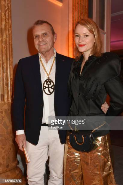 Jean Charles de Castelbajac and Pauline de Drouas attend the Kenzo Takada Birthday Party as part of the Paris Fashion Week Womenswear Fall/Winter...