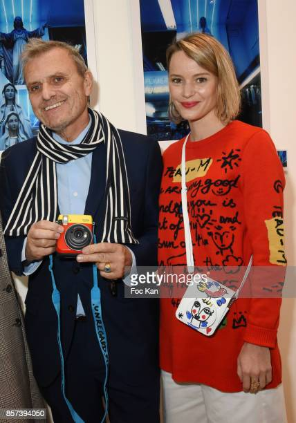 Jean Charles de Castelbajac and Pauline de Drouas attend the Lignee by jean Charles de Castelbajac Father an sons hosted by Fujifilm X Instax Launch...