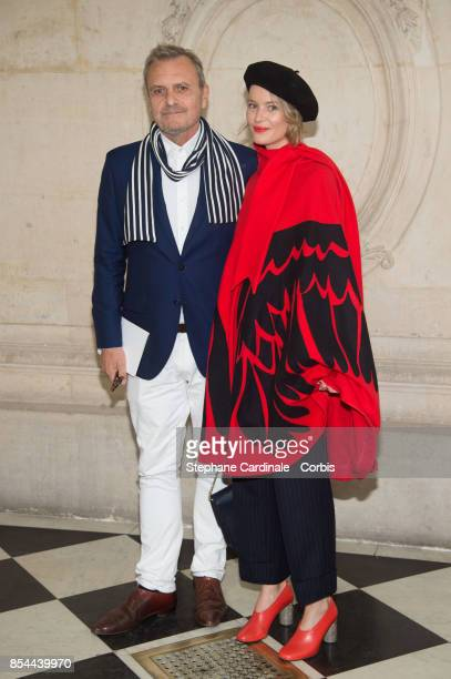 Jean Charles de Castelbajac and Pauline de Drouas attends the Christian Dior show as part of the Paris Fashion Week Womenswear Spring/Summer 2018 at...