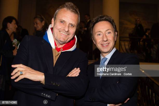 Jean Charles de Castelbajac and Stephane Bern attend the 22th Edition Of 'Les Sapins De Noel Des Createurs Designer's Christmas Trees on November 17...