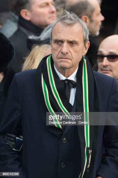 Jean Charles de Castelbajac during Johnny Hallyday's Funeral Procession at Eglise De La Madeleine on December 9 2017 in Paris France France pays...