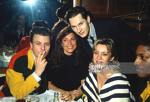 Jean Charles de Castelbajac Floc' h and guests attend a fashion week Party at Les Bains Douches in the 1980s in Paris France