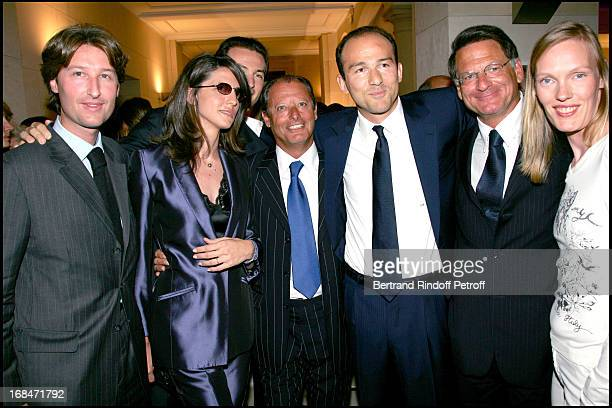 Jean Charles Decaux and his wife the brothers Simon and Benjamin Badinter Entourent Pierre Marcus Jean Paul Baudecroux and his wife Vibeke Rostorp...
