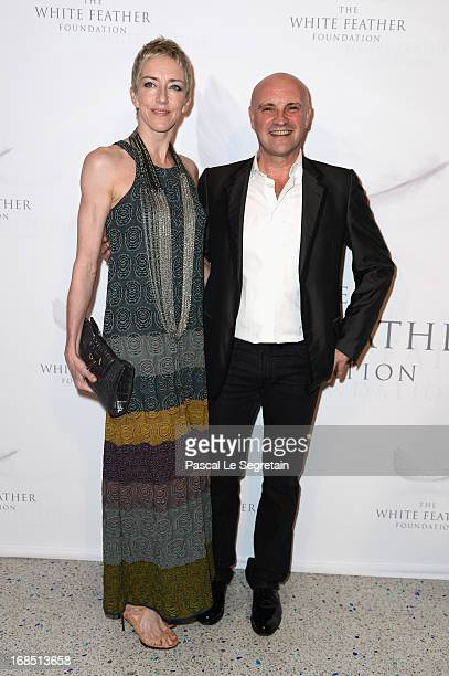 Jean Christophe Maillot and a guest arrive at The White Feather Foundation Charity Ball 2013 at Ballet De Monte Carlo on May 10 2013 in Monaco Monaco...