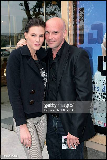 """Jean Christophe Maillot, choreographer and director of the Monte Carlo Ballets and daughter Juliette - Premiere of the play """"La Belle"""" of the Monte..."""