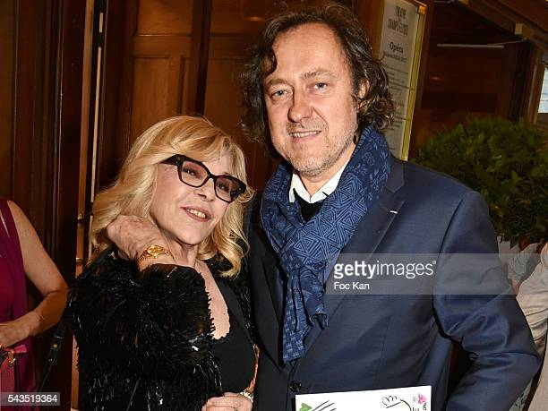 Jean Christophe Molinier and Nicoletta attend 22th Amnesty International France Gala at Theatre des Champs Elysees on June 28 2016 in Paris France