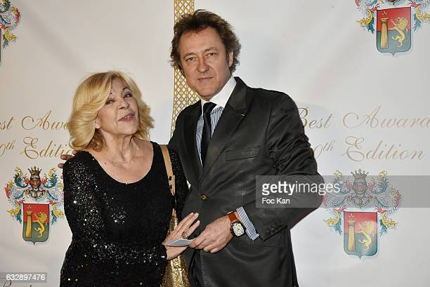 Jean Christophe Molinier and Nicoletta attend 'The Best Award Gala 40th Edition' at Four Seasons George V Hotel on January 27 2017 in Paris France