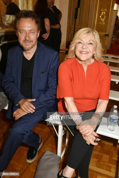 Jean Christophe Molinier and singer Nicoletta attend the Christophe Josse Haute Couture Fall Winter 2018/2019 show as part of Paris Fashion Week on...