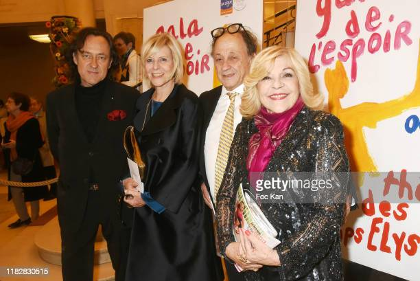 Jean Christophe Molinier Michel Ansault his wife Chantal Ladesou and Nicoletta attend  27th Gala Pour L'Espoir To Benefit La Ligue Contre Le Cancer...