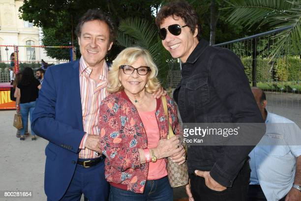 Jean Christophe Molinier singers Nicoletta and Jean luc Lahaye attend La Fete des Tuileries on June 23 2017 in Paris France