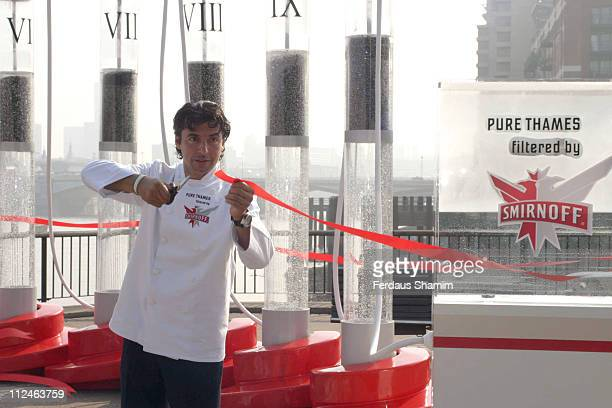 Jean Christophe Novelli during Jean Christophe Novelli Unveils Smirnoff Purification Installation at South Bank London in London Great Britain