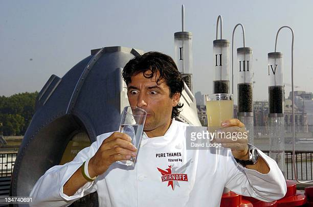 Jean Christophe Novelli during Jean Christophe Novelli Unveils Amazing Smirnoff Purification Installation at Observation Point South Bank in London...