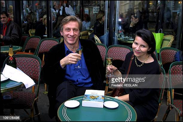 Jean Christophe Rufin And Martine Le Coz Winners Of The 2001 Goncourt And Renaudot Literary Prizes On April 11Th 2001 In Paris France