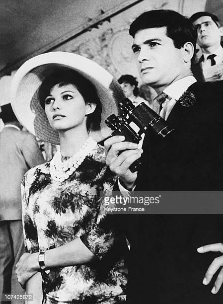 Jean Claude Brialy And Claudia Cardinale In The Lions Are Loose Movie In Munich On June 1962