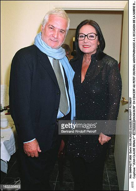 Jean Claude Brialy and Nana Mouskouri concert at the Petit Journal in Montparnasse to mark the launch of her new album Nana Swing