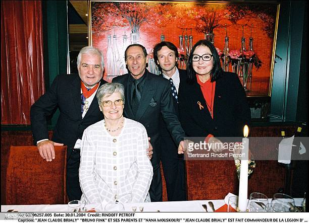 """Jean Claude Brialy """"Bruno Fink"""" and parents and """"Nana Mouskouri"""" """"Jean Claude Brialy"""" is made commander of the Legion of Honor."""