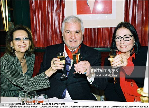 """Jean Claude Brialy """"Claudia Cardinale"""" and """"Nana Mouskouri"""" """"Jean Claude Brialy"""" is made commander of the Legion of Honor."""
