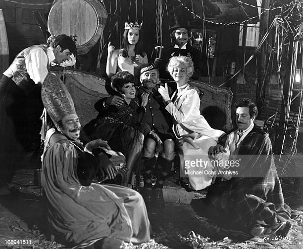 Jean Claude Brialy Francoise Christophe Geneviève Bujold and Micheline Presle in a scene from the film 'King Of Hearts' 1966