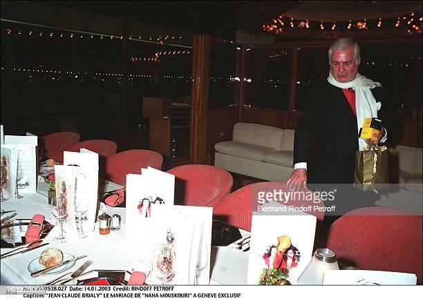 Jean Claude Brialy the wedding of Nana Mouskouri in Geneva table
