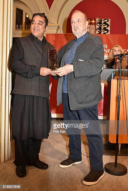Jean Claude CarrIere and Prix Henri Langlois director/ actor Kamal Haasan attend '10eme Rencontres Internationales de Cinema de Patrimoine 2016'...