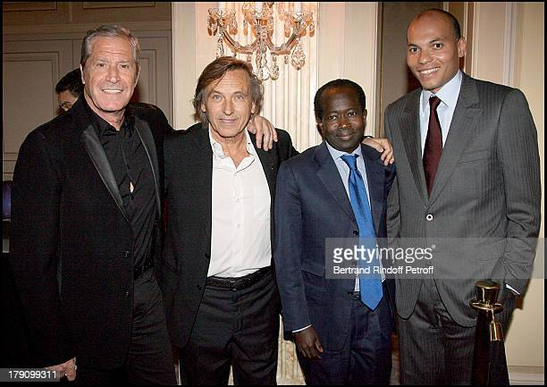 Jean Claude Darmon Alexandre Arcady Diagna Ndiaye and Karim Wade at Premiere Party For 'Africa 24'