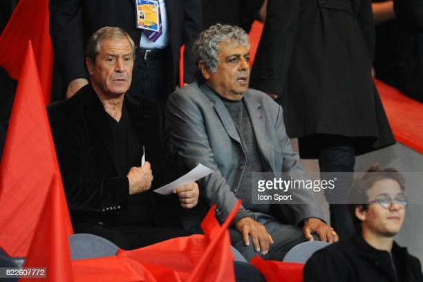 Jean Claude DARMON / Enrico MACIAS - - PSG / Lyon - 6eme journee de Ligue 1 - Parc des Princes - Paris,