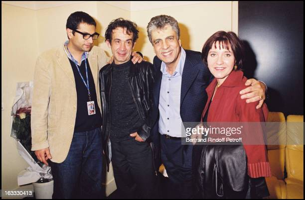 Jean Claude Ghrenassia, Enrico Macias, the party of his concert at the Olympia of Paris in 2003 unknown.