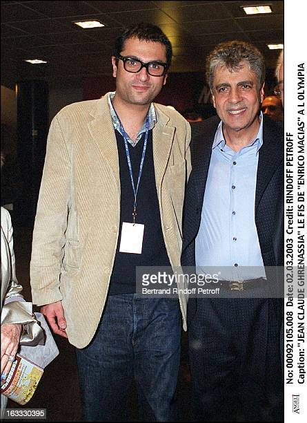 "Jean Claude Ghrenassia son of ""Enrico Macias"" at the Olympia."
