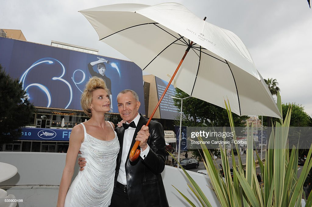Jean Claude Jitrois and Sarah Marshall prepare for the Opening Ceremony of the 63rd Cannes International Film Festival.
