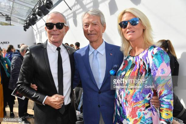 Jean Claude Jitrois Jean Claude Narcy and Alice Bertheaume attend the Leonard show as part of the Paris Fashion Week Womenswear Spring/Summer 2019 on...
