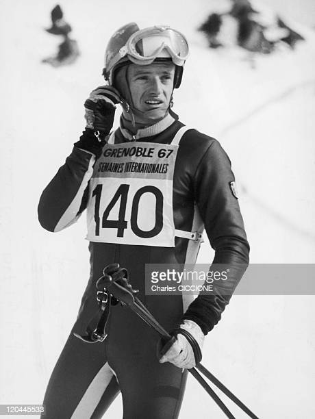 Jean Claude Killy In Chamrousse France On January 01 1967 French skier in testing during the winter