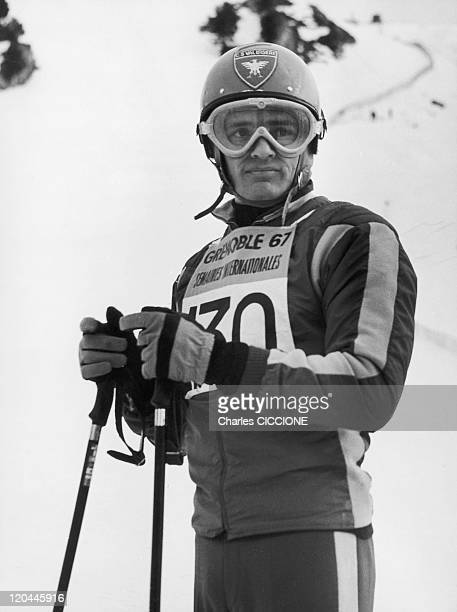 Jean Claude Killy In France In February 1967 French skier in testing during the winter