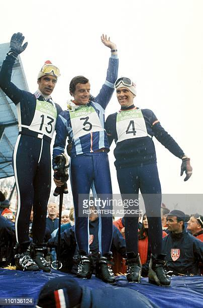 Jean Claude Killy in Olympic games of Grenoble France in 1968