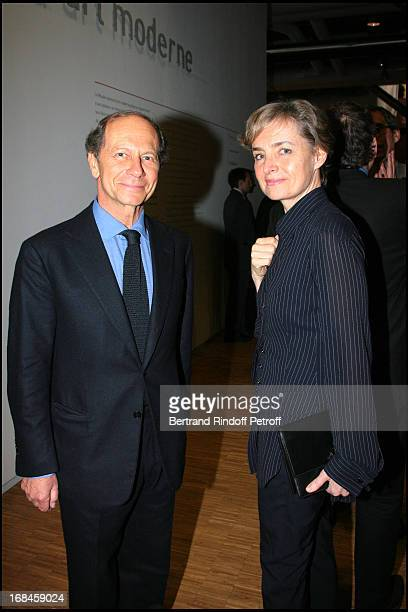 Jean Claude Meyer and Anne Claire Taittinger at Gala Evening Societe Des Amis Du Musee National D'Art Moderne At The Centre Pompidou In Paris