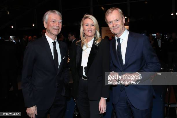 Jean Claude Narcy Alice Bertheaume and Ari Vatanen attend the 35th International Automobile Festival at Hotel des Invalides on January 28 2020 in...