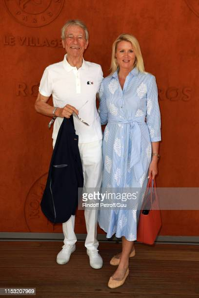 Jean Claude Narcy and Alice Bertheaume attend the 2019 French Tennis Open Day Eight at Roland Garros on June 02 2019 in Paris France