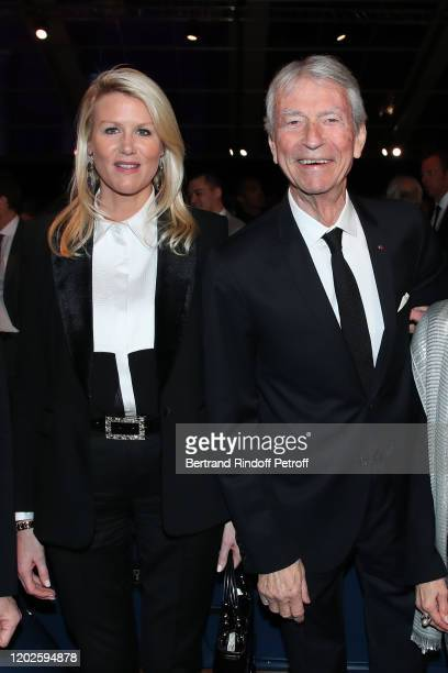 Jean Claude Narcy and Alice Bertheaume attend the 35th International Automobile Festival at Hotel des Invalides on January 28 2020 in Paris France
