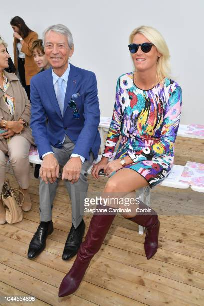 Jean Claude Narcy and Alice Bertheaume attend the Leonard show as part of the Paris Fashion Week Womenswear Spring/Summer 2019 on October 1 2018 in...