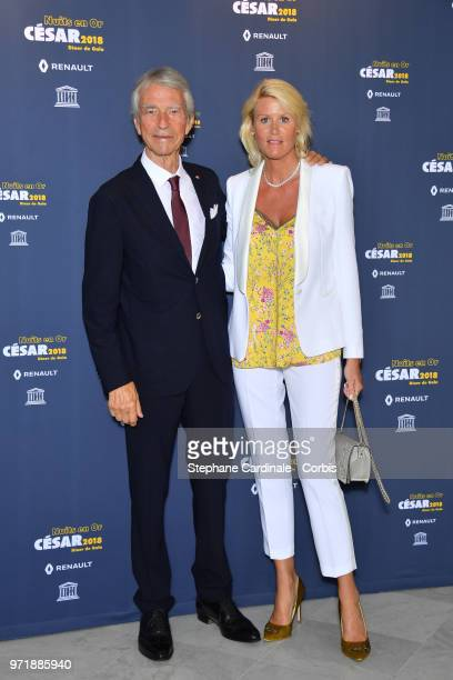 Jean Claude Narcy and Alice Bertheaume attend the 'Les Nuits En Or 2018' dinner gala at UNESCO on June 11 2018 in Paris France