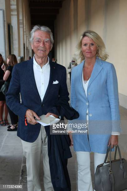 Jean Claude Narcy and Alice Bertheaume attend the Tosca Opera en Plein Air performance at Les Invalides on September 04 2019 in Paris France