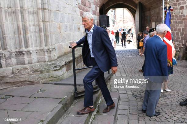 Jean Claude Skrela is seen at the burial of Pierre Camou in Saint Jean Pied de Port during the Funeral of former rugby player Pierre Camou on August...