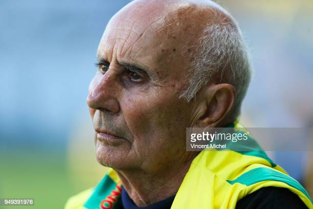 Jean Claude Suaudeau former legendary headcoach of Nantes during the Ligue 1 match between Nantes and Stade Rennes at Stade de la Beaujoire on April...